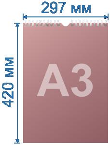 Розміри настінного календаря формату А3